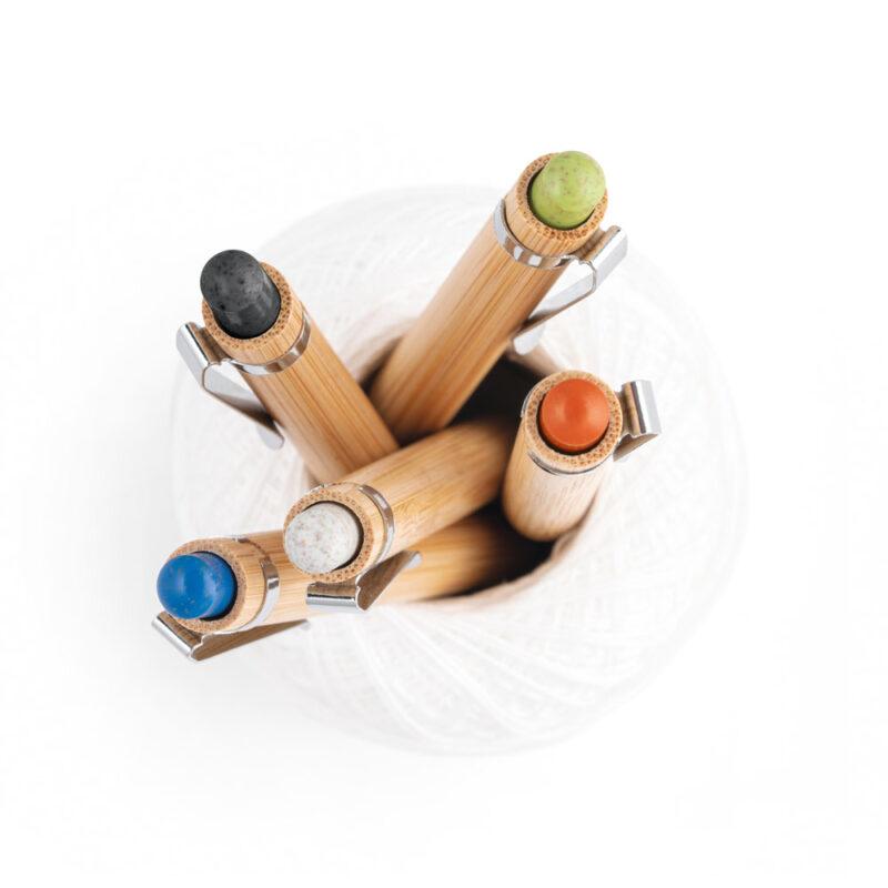 Esferográfica em bambu Benjamin 81012 - MyPrint Merchandising